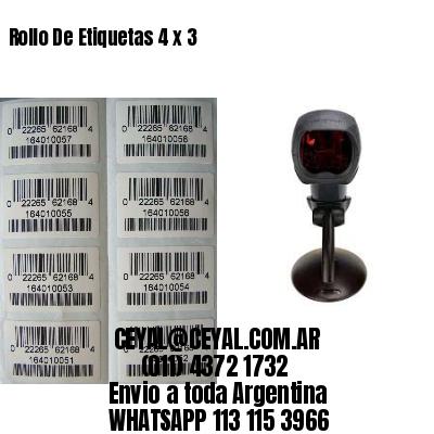 Rollo De Etiquetas 4 x 3