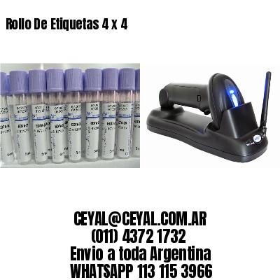 Rollo De Etiquetas 4 x 4