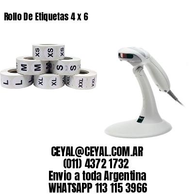 Rollo De Etiquetas 4 x 6