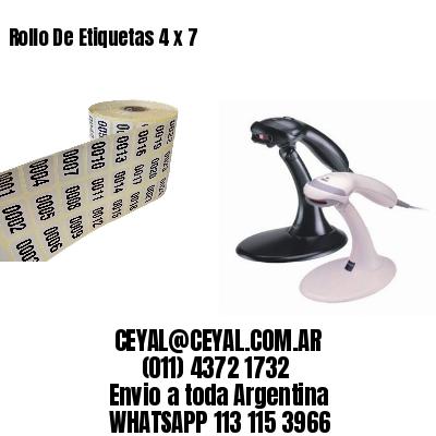 Rollo De Etiquetas 4 x 7