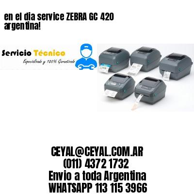 en el dia service ZEBRA GC 420 argentina!