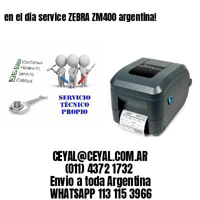 en el dia service ZEBRA ZM400 argentina!