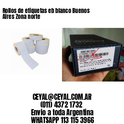 Rollos de etiquetas eb blanco Buenos Aires Zona norte