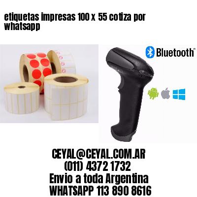 etiquetas impresas 100 x 55 cotiza por whatsapp