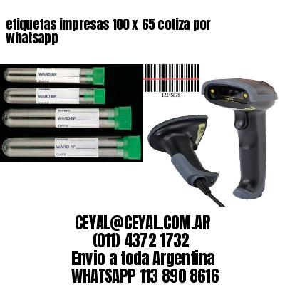 etiquetas impresas 100 x 65 cotiza por whatsapp