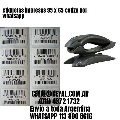 etiquetas impresas 95 x 65 cotiza por whatsapp