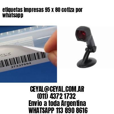 etiquetas impresas 95 x 80 cotiza por whatsapp