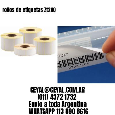 rollos de etiquetas Zt200