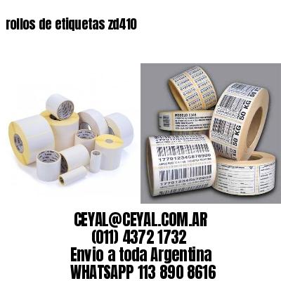 rollos de etiquetas zd410