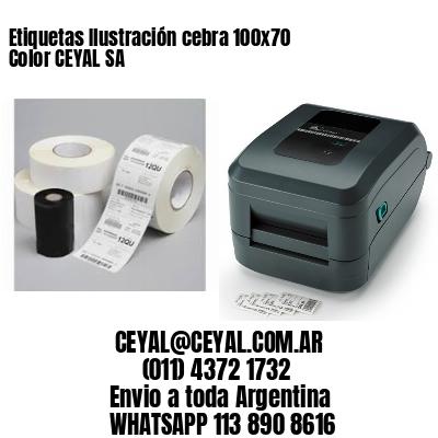 Etiquetas Ilustración cebra 100x70 Color CEYAL SA