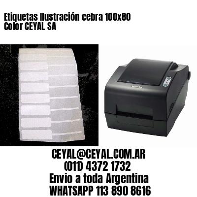 Etiquetas Ilustración cebra 100x80 Color CEYAL SA