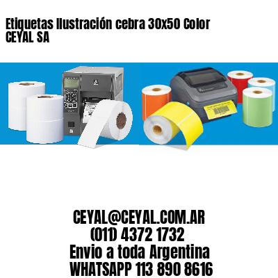 Etiquetas Ilustración cebra 30x50 Color CEYAL SA