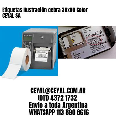 Etiquetas Ilustración cebra 30x60 Color CEYAL SA