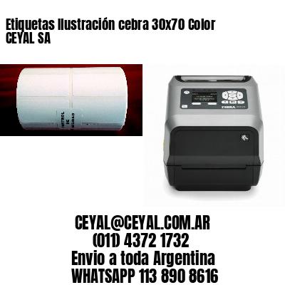 Etiquetas Ilustración cebra 30x70 Color CEYAL SA