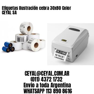 Etiquetas Ilustración cebra 30x80 Color CEYAL SA