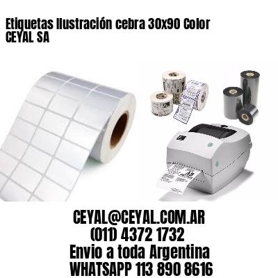Etiquetas Ilustración cebra 30x90 Color CEYAL SA
