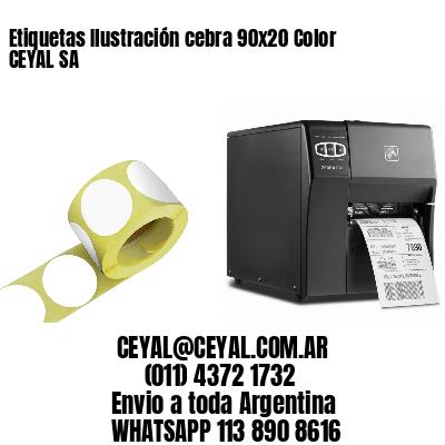 Etiquetas Ilustración cebra 90x20 Color CEYAL SA