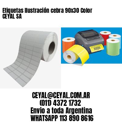Etiquetas Ilustración cebra 90x30 Color CEYAL SA
