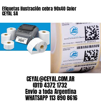 Etiquetas Ilustración cebra 90x40 Color CEYAL SA
