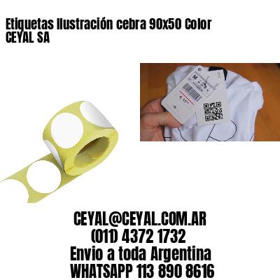 Etiquetas Ilustración cebra 90x50 Color CEYAL SA