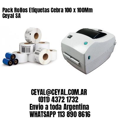 Pack Rollos Etiquetas Cebra 100 x 100Mm Ceyal SA