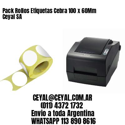 Pack Rollos Etiquetas Cebra 100 x 60Mm Ceyal SA