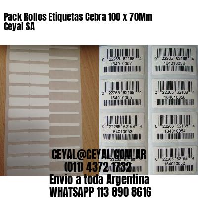 Pack Rollos Etiquetas Cebra 100 x 70Mm Ceyal SA