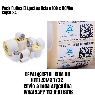 Pack Rollos Etiquetas Cebra 100 x 80Mm Ceyal SA
