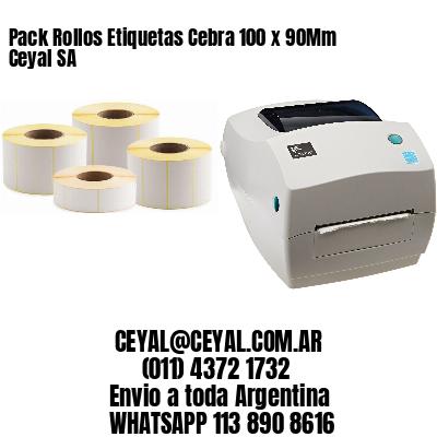Pack Rollos Etiquetas Cebra 100 x 90Mm Ceyal SA