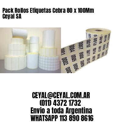 Pack Rollos Etiquetas Cebra 80 x 100Mm Ceyal SA