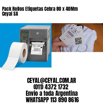 Pack Rollos Etiquetas Cebra 80 x 40Mm Ceyal SA