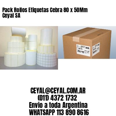 Pack Rollos Etiquetas Cebra 80 x 50Mm Ceyal SA