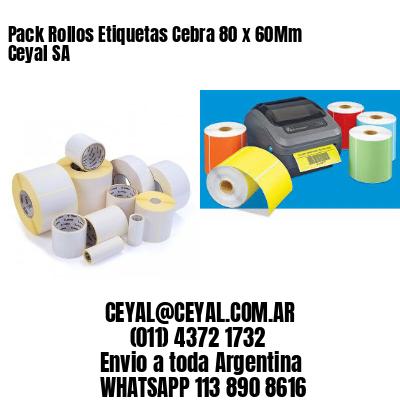 Pack Rollos Etiquetas Cebra 80 x 60Mm Ceyal SA