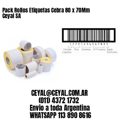 Pack Rollos Etiquetas Cebra 80 x 70Mm Ceyal SA