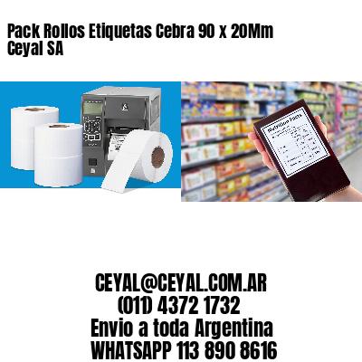 Pack Rollos Etiquetas Cebra 90 x 20Mm Ceyal SA