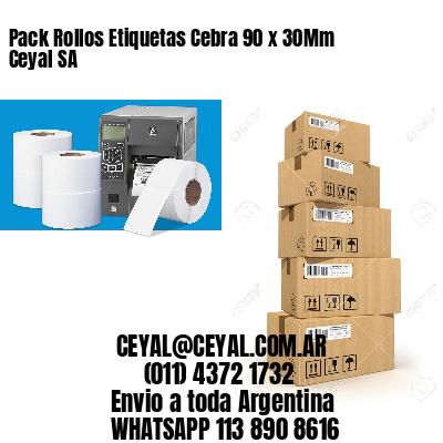 Pack Rollos Etiquetas Cebra 90 x 30Mm Ceyal SA