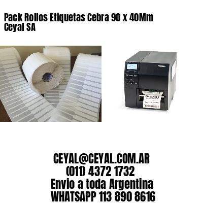 Pack Rollos Etiquetas Cebra 90 x 40Mm Ceyal SA