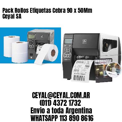 Pack Rollos Etiquetas Cebra 90 x 50Mm Ceyal SA