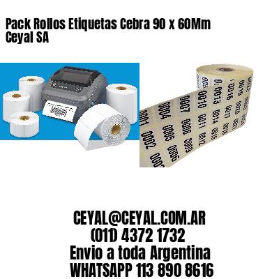 Pack Rollos Etiquetas Cebra 90 x 60Mm Ceyal SA