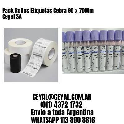 Pack Rollos Etiquetas Cebra 90 x 70Mm Ceyal SA