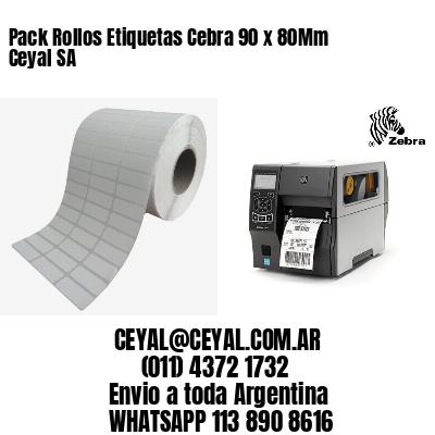 Pack Rollos Etiquetas Cebra 90 x 80Mm Ceyal SA
