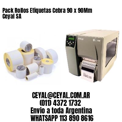 Pack Rollos Etiquetas Cebra 90 x 90Mm Ceyal SA