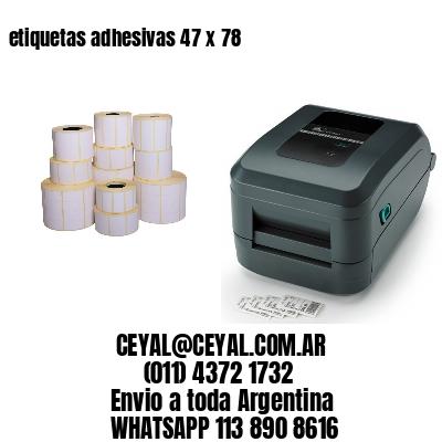 etiquetas adhesivas 47 x 78