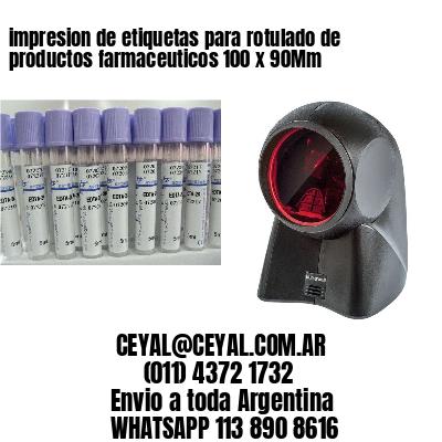 impresion de etiquetas para rotulado de productos farmaceuticos 100 x 90Mm
