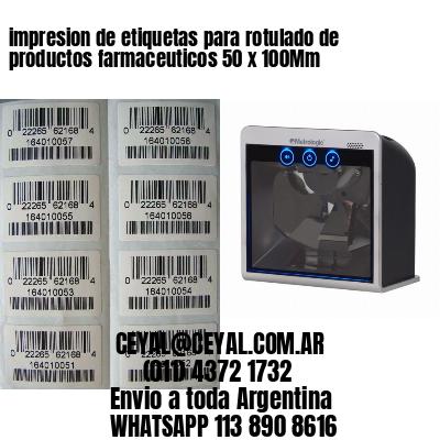 impresion de etiquetas para rotulado de productos farmaceuticos 50 x 100Mm