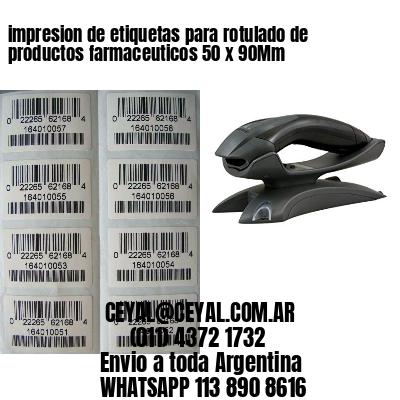 impresion de etiquetas para rotulado de productos farmaceuticos 50 x 90Mm