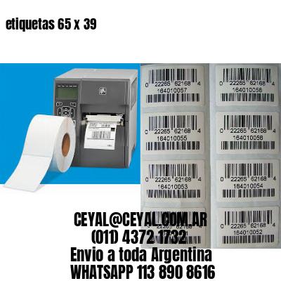 etiquetas 65 x 39