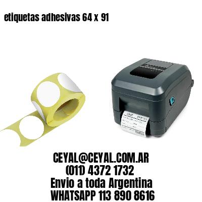 etiquetas adhesivas 64 x 91