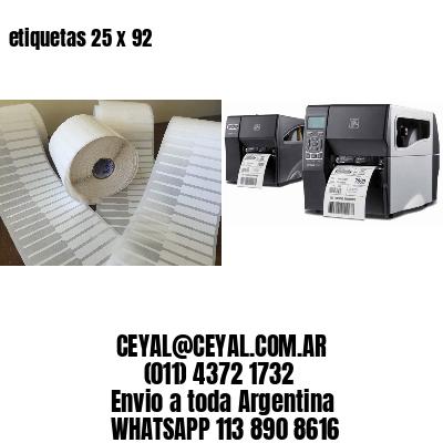 etiquetas 25 x 92