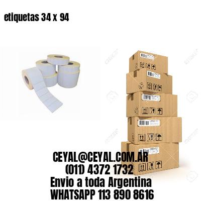 etiquetas 34 x 94